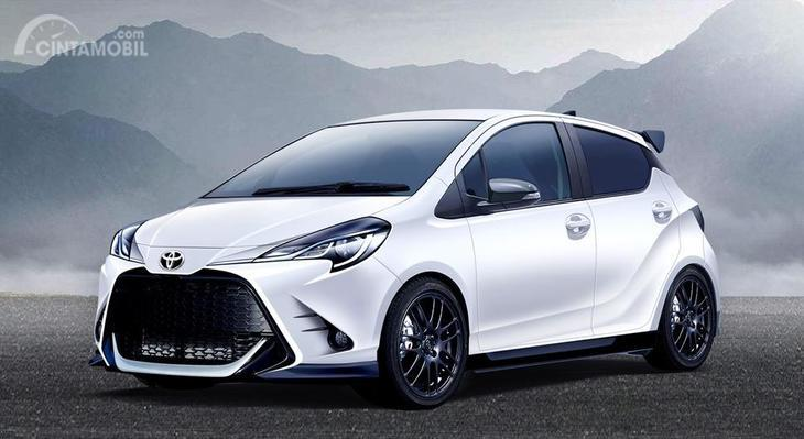 mobil baru Toyota Yaris 2019 berwarna putih