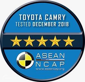 Gambar menunjukkan Hasil tes ASEAN NCAP Toyota Camry 2.0 G