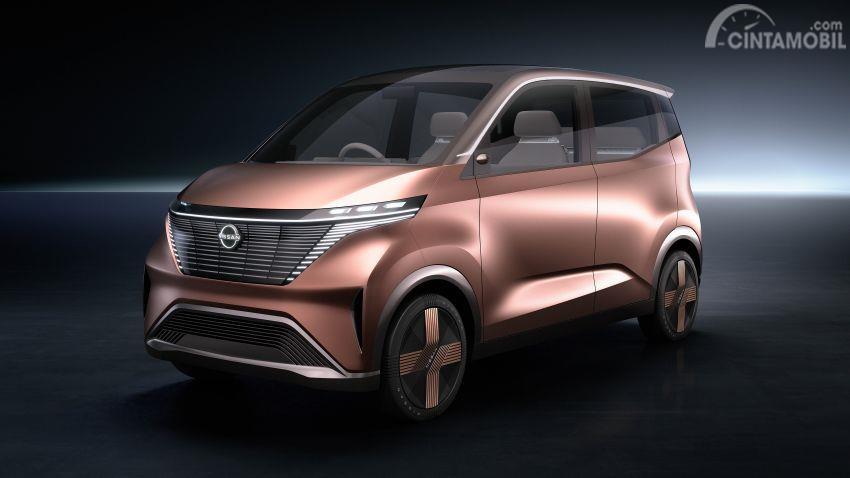 mobil konsep Nissan IMk 2019 berwarna emas