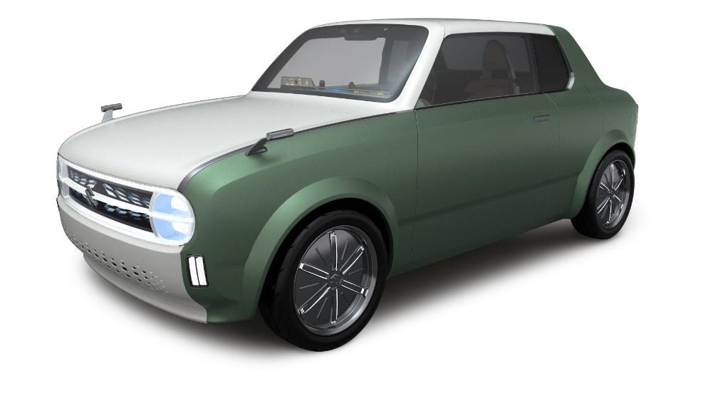 tampilan depan Suzuki Waku SPO 2019 berwarna hijau dan putih