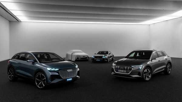 Foto jajaran mobil elektrik Audi