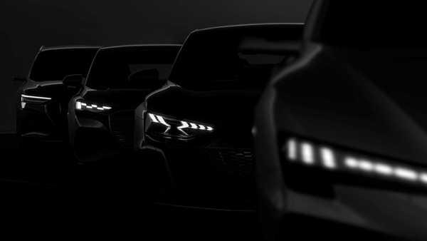 Foto teaser mobil listrik Audi