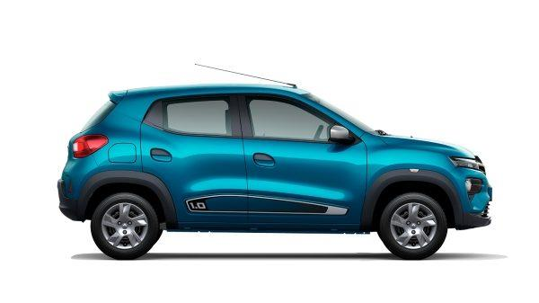 eksterior samping Renault Kwid 2019 berwarna biru