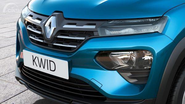 eksterior depan Renault Kwid 2019 berwarna biru