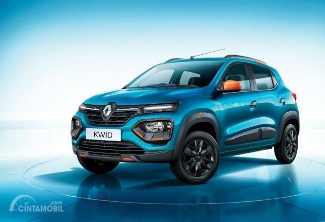 mobil baru Renault Kwid 2019 berwarna biru