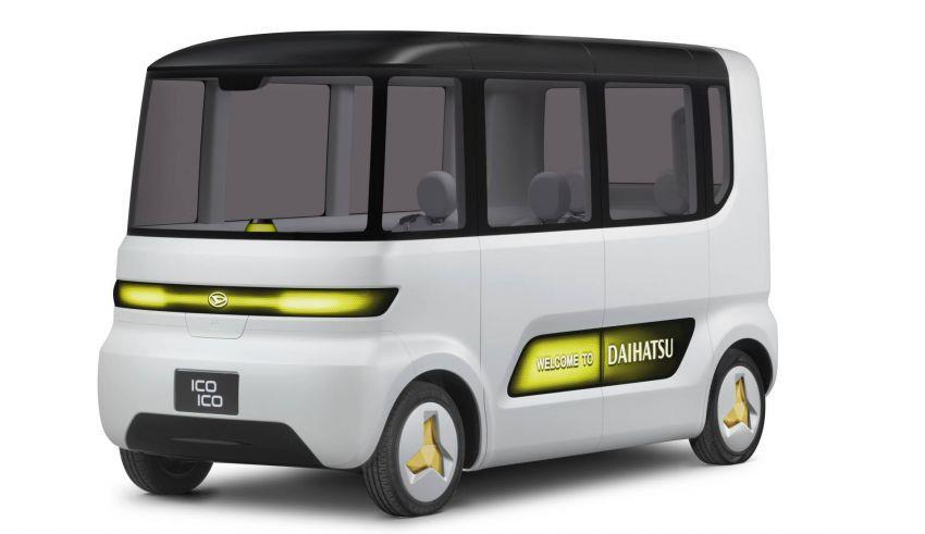 mobil konsep Daihatsu Ico Ico berwarna putih