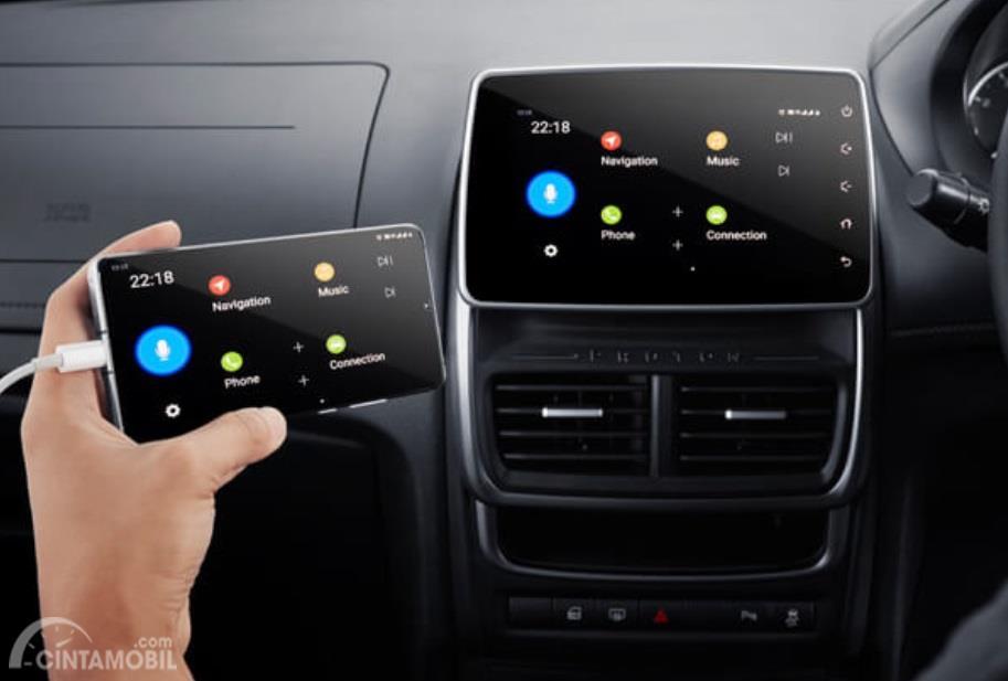 Fitur Hiburan Proton Saga 2019 sudah dilengkapi dengan Head Unit berukuran 7 inci dan didukung format Smartphone Connectivity khususnya tipe tertinggi
