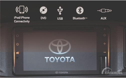 Gambar menunjukkan Head Unit Toyota New Calya 1.2 G AT 2019