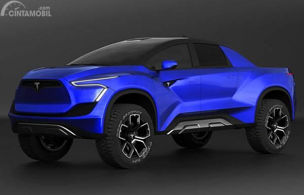 Tesla Pickup Blue