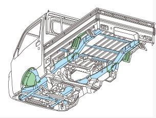 Gambar menunjukkan Sasis Tangga Yang Digunakan Subaru Sambar Truck
