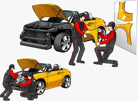 Gambar menunjukkan Kidzania x Daihatsu berwarna kuning