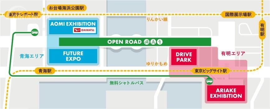 Gambar menunjukkan peta booth Daihatsu di Tokyo Motor Show 2019