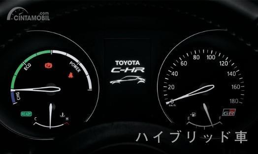 Gambar menunjukkan Multi Information Display Toyota C-HR GR Sport Hybrid 2019
