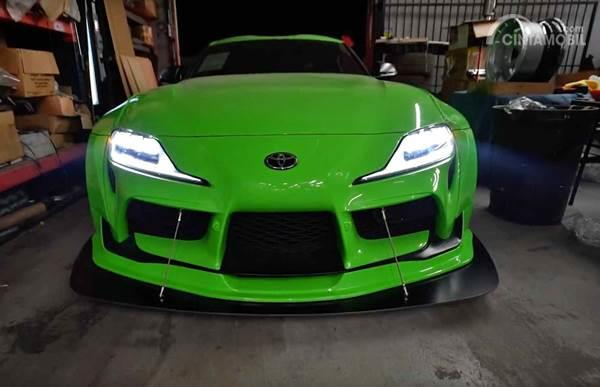 Toyota Supra Lime Green