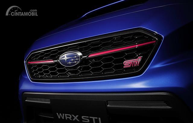 Gambar menunjukkan grill depan Subaru WRX STI EJ20 Final Edition 2019