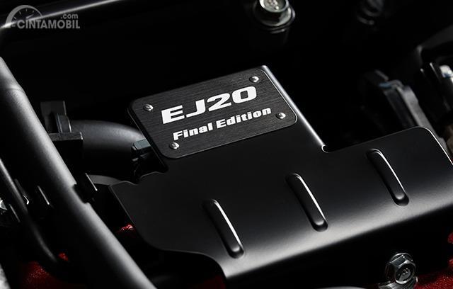 Gambar menunjukkan Emblem EJ20 Final Edition