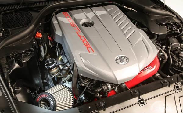 Toyota GR Supra SEMA 2019 engine