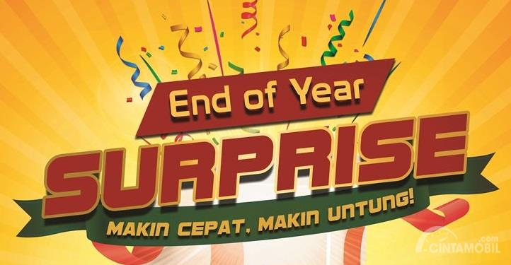 promo End Year Surprise Honda Jakarta Center berwarna merah