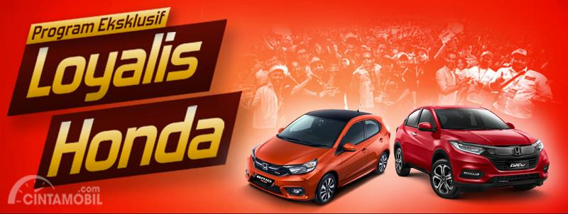 promo program Loyalis Honda berwarna merah