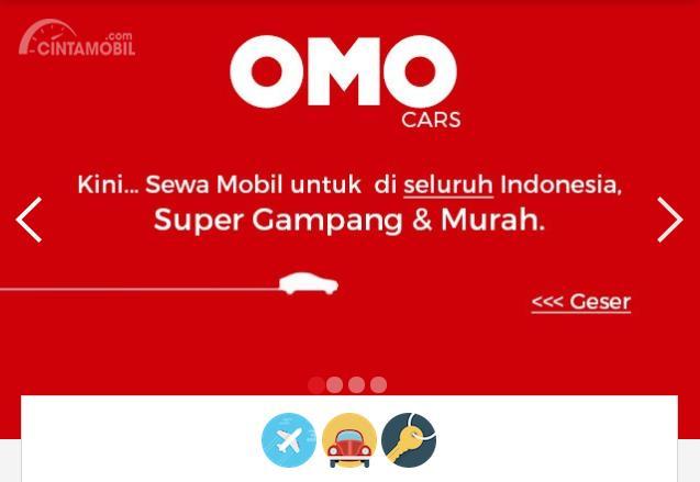 laman resmi layanan Omo Cars menyewa mobil