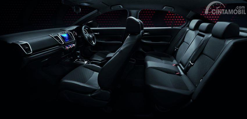 Gambar menunjukkan Layout interior All New Honda City 2020