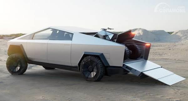 foto Tesla Cybertruck back