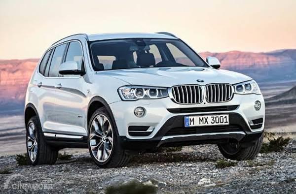 BMW X3 diesel 2015 berwarna silver