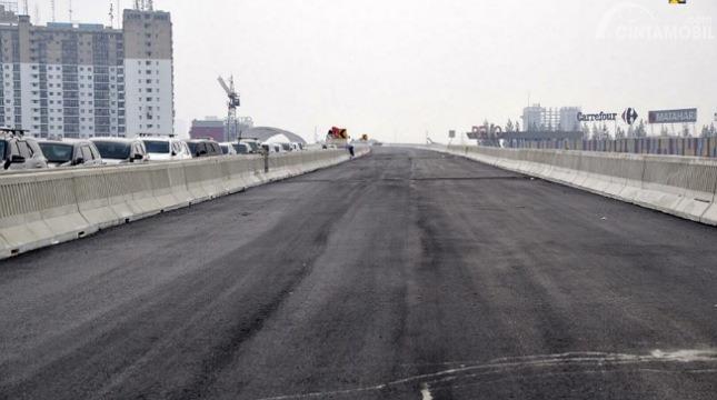 Gambar menunjukkan Permukaan Jalan Tol Japek II