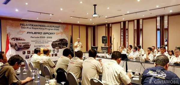 rapat anggota Pajero Sport Family