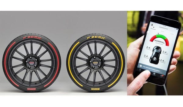 Foto teknologi ban pintar Pirelli dengan internet 5G