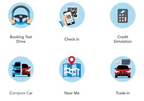 Gambar menunjukan detil Aplikasi mTOYOTA