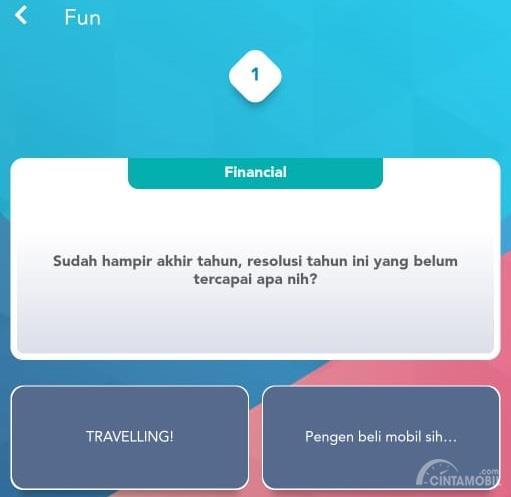 Gambar menunjukan tab financial Aplikasi mToyota