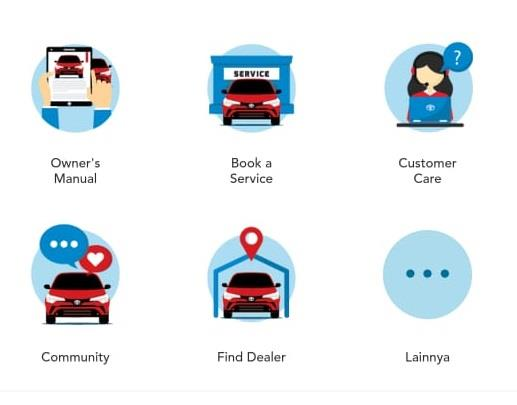 Gambar menunjukan aplikasi mToyota