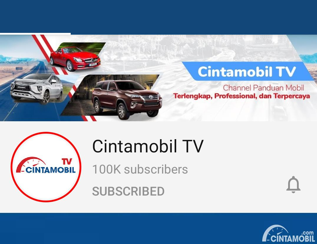 Tampilan mobile channel Cintamobil TV