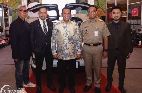peresmian Tesla Club Indonesia di Jakarta