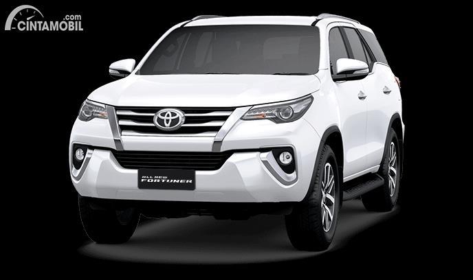 Gambar menunjukan tampilan depan Toyota Fortuner VRZ 2017