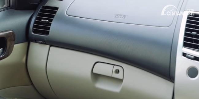 Gambar menunjukan airbag Mitsubishi Pajero Sport Exceed Limited 2013