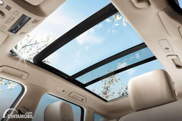 Gambar menunjukkan panoramic sunroof yang terbuka