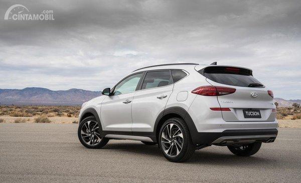 Foto Hyundai Tucson facelift tampak belakang