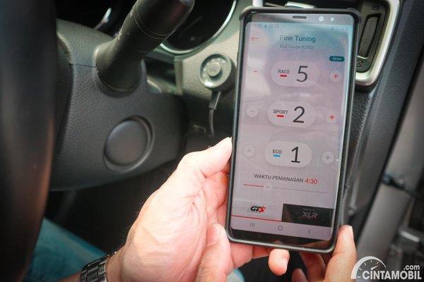 Foto aplikasi dan pengaturan RaceChips lewat smartphone
