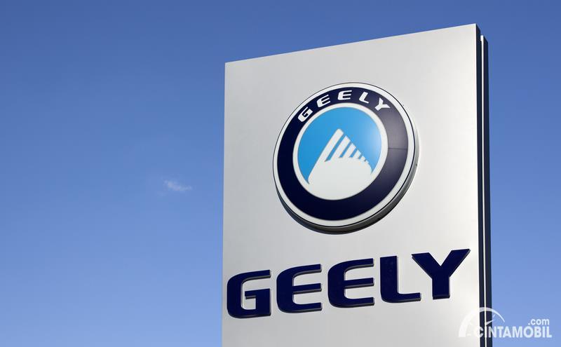 Foto logo Geely terpampang jelas