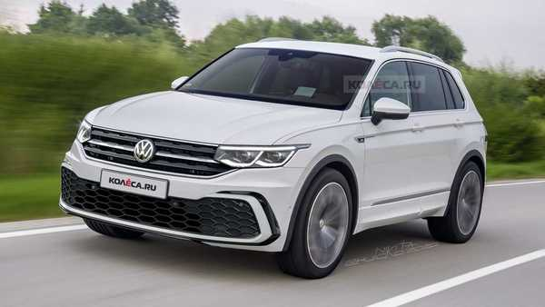 Foto VW Tiguan Facelift versi digital rendering