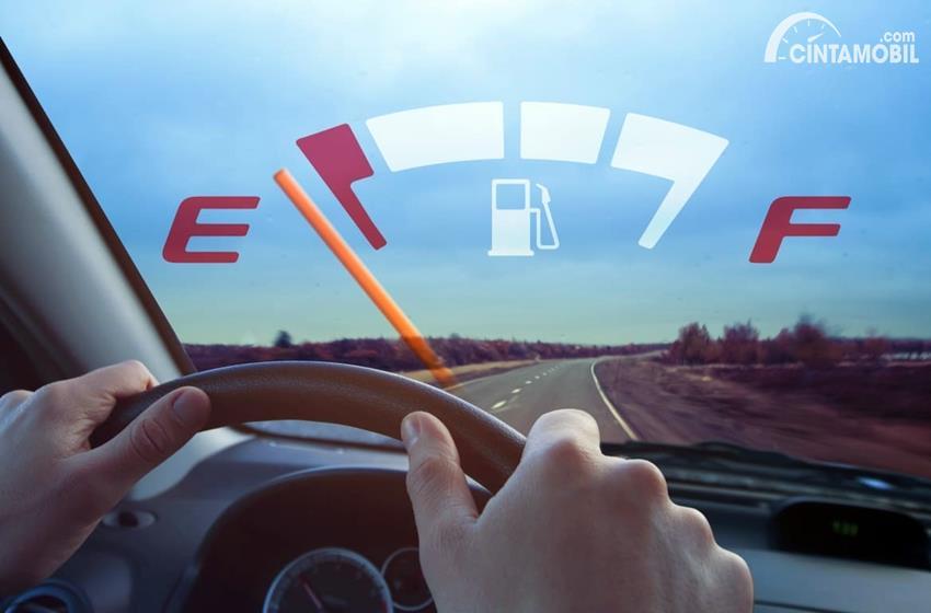 Foto Indikator BBM pada mobil