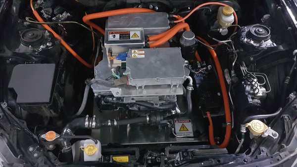 Foto motor listrik yang digunakan Toyota 86 EV