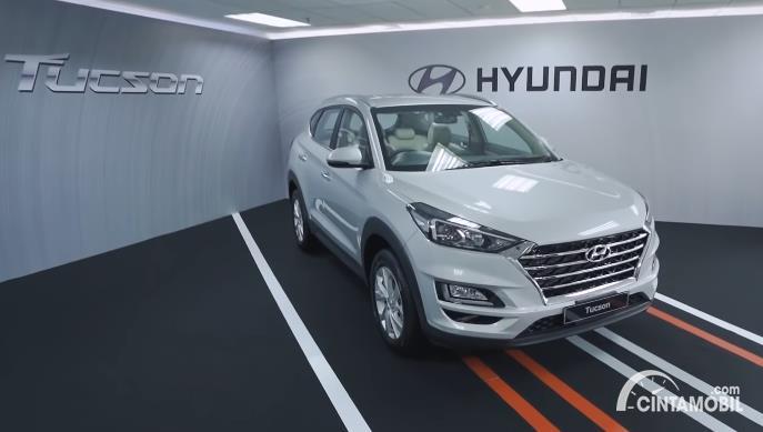 mobil baru Hyundai Tucson 2020 berwarna putih