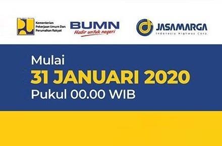 Tarif Baru Tol Dalam Kota Berlaku Mulai 31 Januari 2020