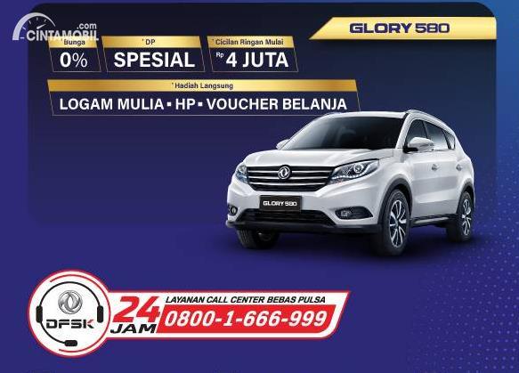 promo DFSK Glory 580 berwarna putih