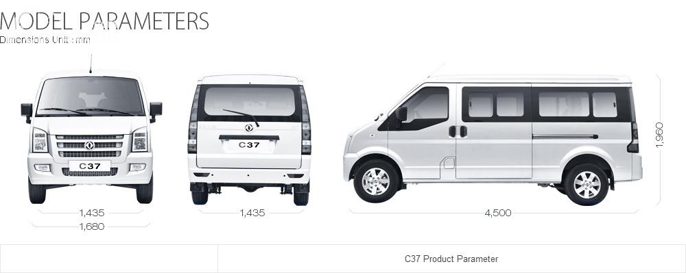 Gambar menunjukkan dimensi DFSK C Series