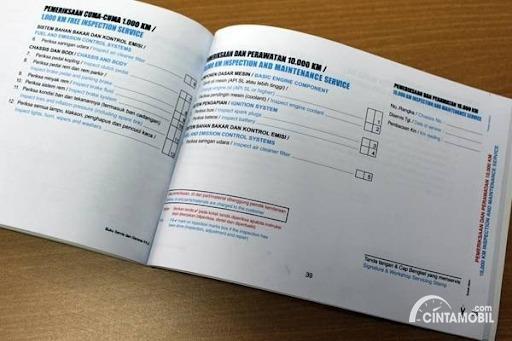 Buku manual kendaraan bagian servis berkala