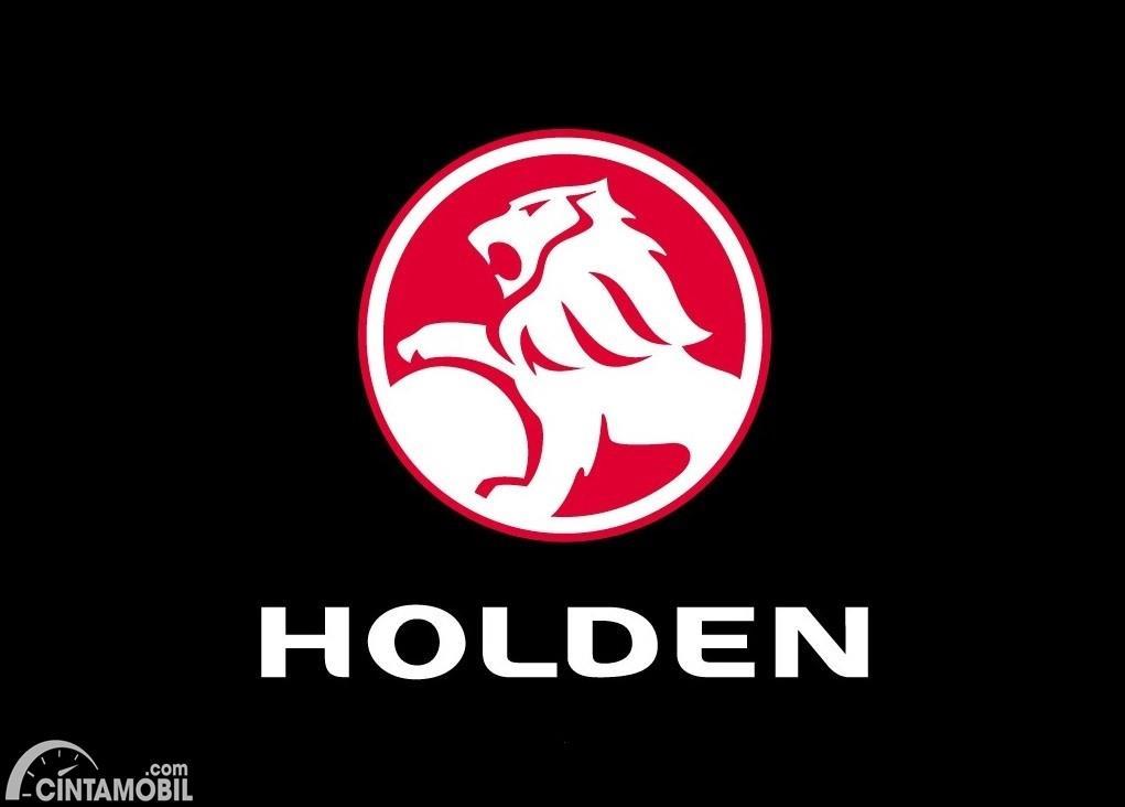Foto menunjukkan Logo Holden berlatar belakang warna hitam
